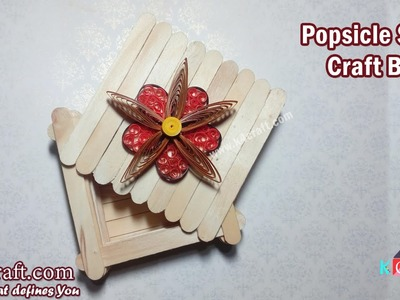 "Learn How to make Popsicle Stick Craft ""Box"" at Home - K4Craft.com"