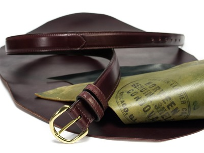 Nicola Meyer how to make a shell cordovan belt handmade in Italy