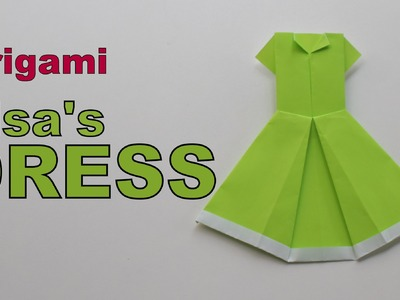 Origami - How to make Elsa's DRESS