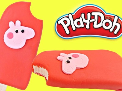 Play doh Popsicle Peppa Pig | How To Make Playdough Popsicle PeppaPig