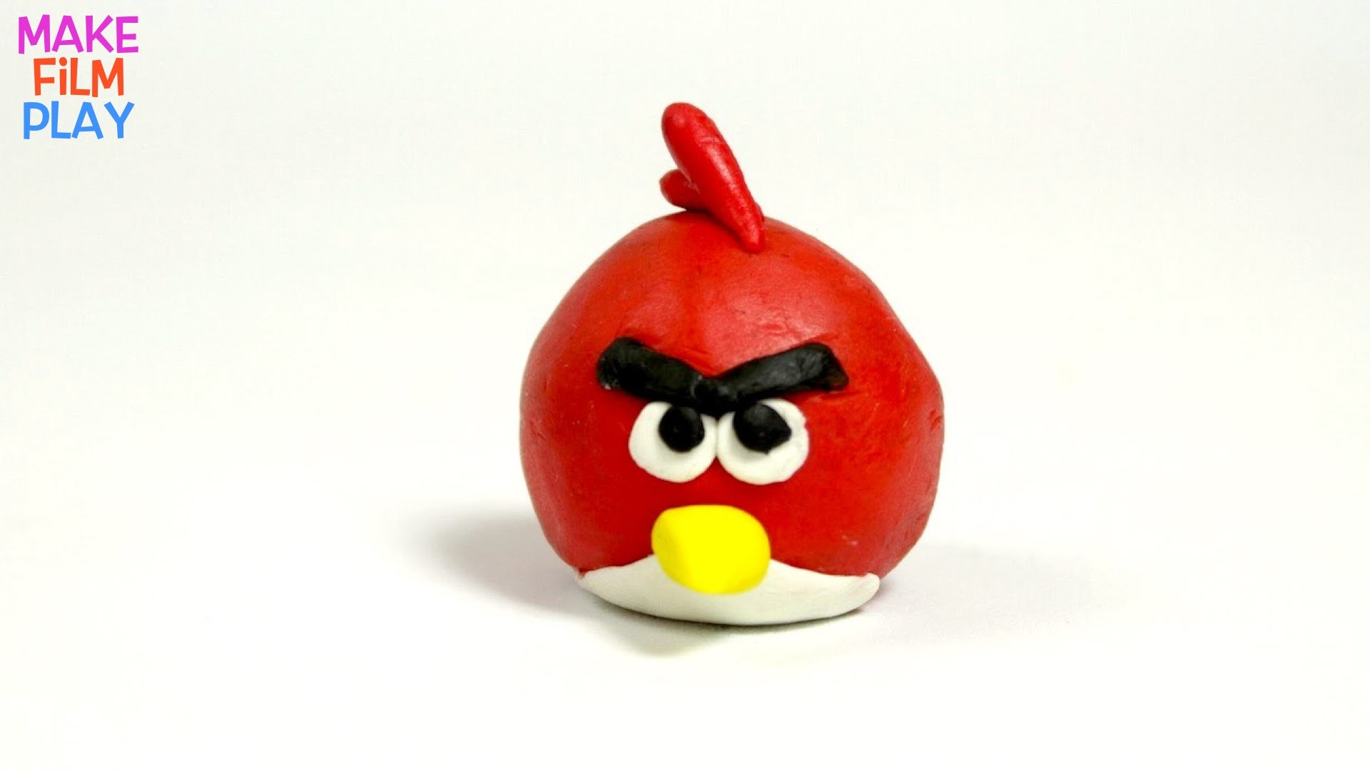 Play-doh Stop-motion How to Make Red Bird from Angry Birds