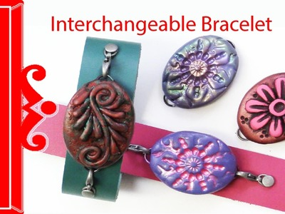 Polymer Clay Tutorial Interchangeable Bracelet - How to Make a Polymer Clay Interchangeable Bracelet