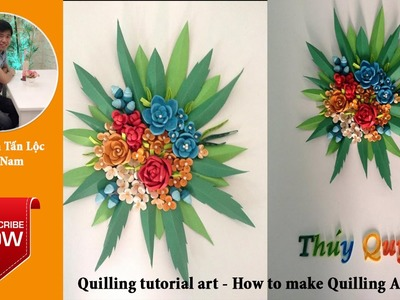 Quilling tutorial art - How to make Quilling Art 01