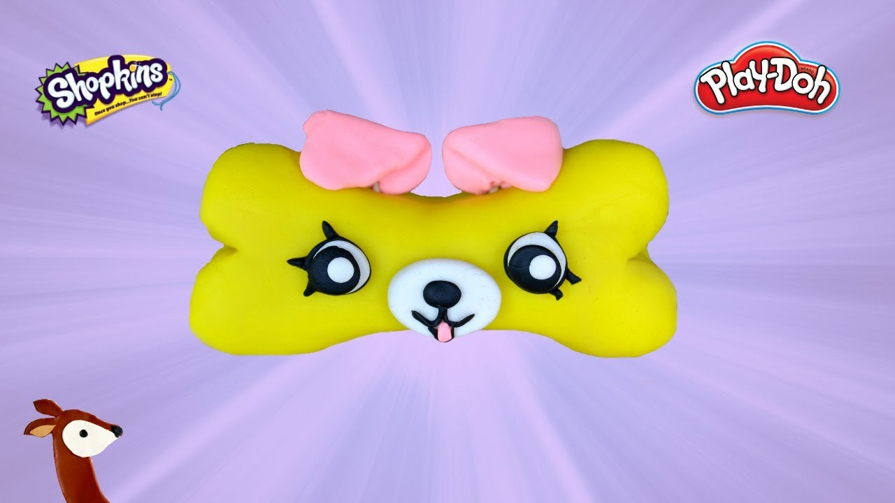 Shopkins Play-Doh: How to Make Bone-adette the Petkin
