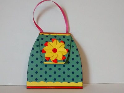 Art and Craft: How to make Explosion insert Purse card. Explosive insert Hand bag card