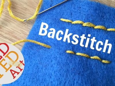 Backstitch How To - Basic Sewing (Embroidery & Hand Sewing)