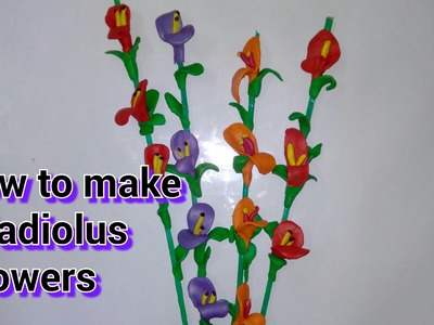 Clay tutorial : how to make gladiolus flowers with clay [creative ideas]