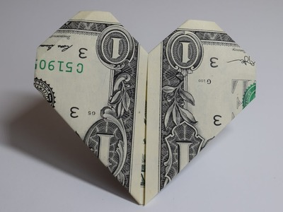Dollar Origami: Heart | 1 Dollar | Easy tutorials and how to's for everyone #Urbanskills