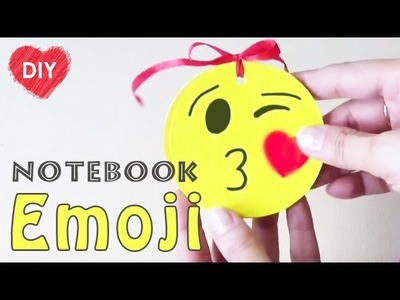 Emoji Back To School Supplies.How to make a emoji notebook. Easy emoji DIY.
