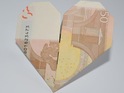 Euro Origami: Heart   50 Euro   Easy tutorials and how to's for everyone #Urbanskills