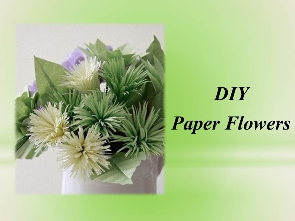 Flowers -How to make paper flowers out of crepe streamers