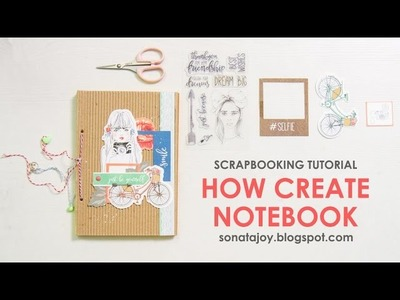 How to create notebook. Kaisercraft Boho Dreams collection