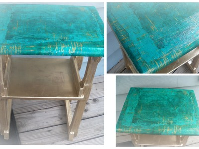 How to decoupage a wood table with handmade Lokta Paper.how to decoupage furniture with paper