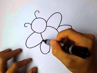 How to draw a Bee step by step for kids