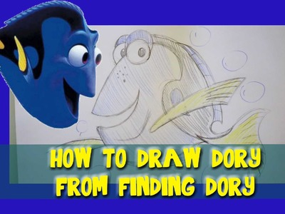 How to Draw DORY from Pixar's Finding Dory and Finding Nemo- @dramaticparrot