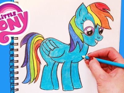 "How to Draw My Little Pony ""Rainbow Dash"" Step By Step Easy 