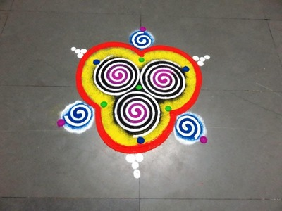 How to draw new latest rangoli design