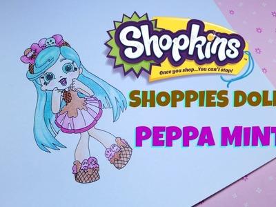 How to Draw Shopkins Shoppies Doll Peppa Mint