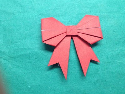 How to fold a paper Bow.Ribbon - The Art of Paper Folding