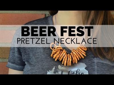 How to Make a Beer Fest Pretzel Necklace