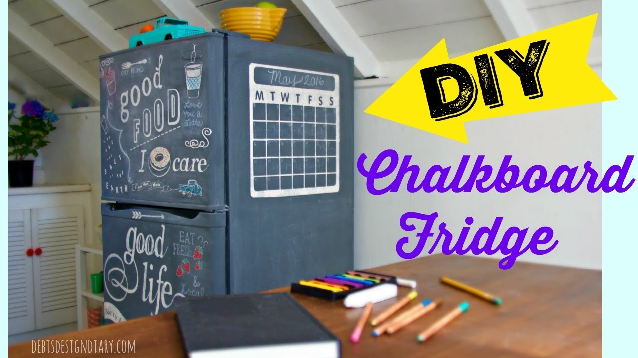 How to make a Chalkboard Fridge - Tribute to my Mom