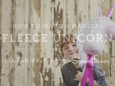 How to Make a Magical Unicorn Hobby Horse | Spoonflower