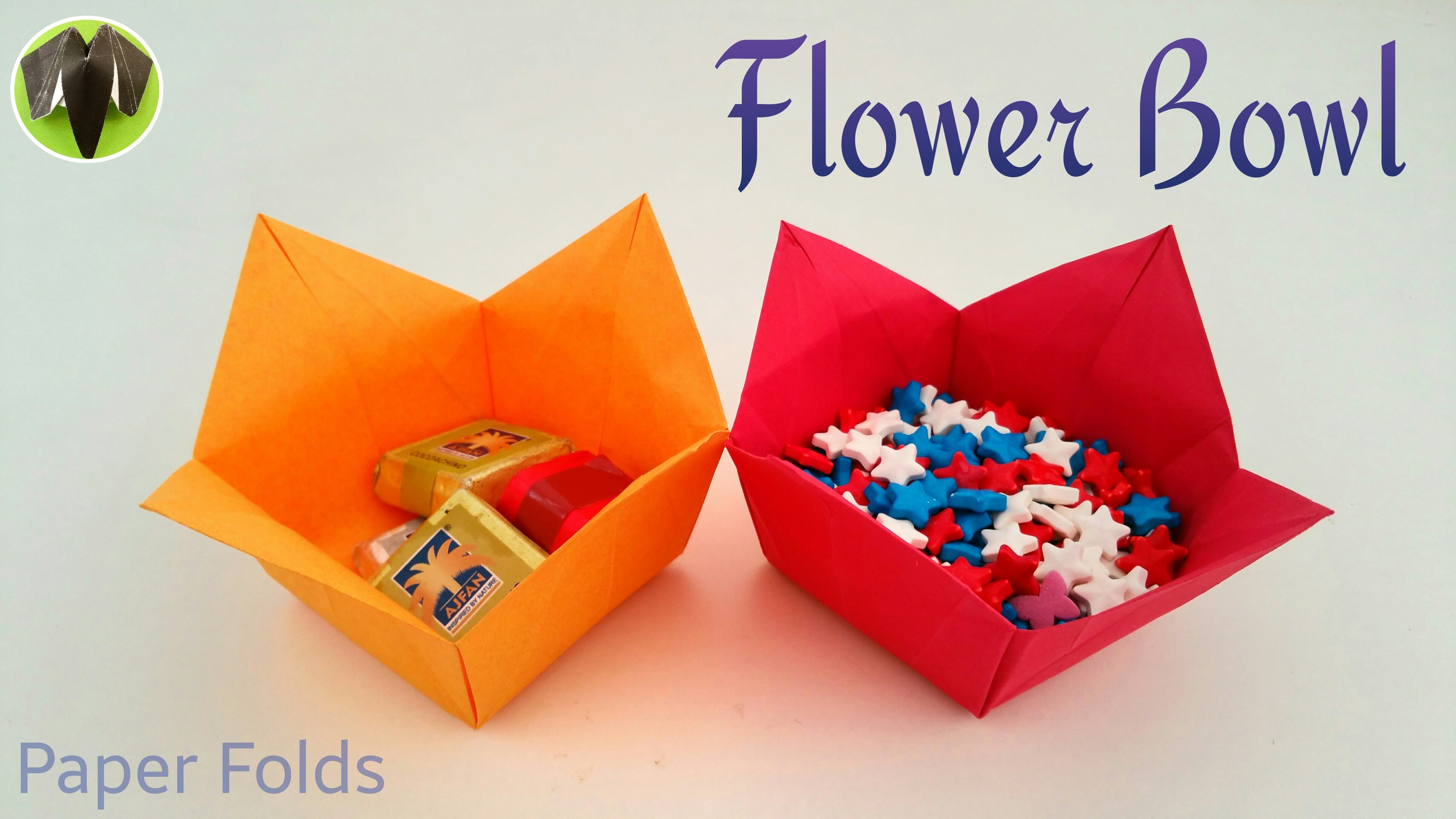 How To Make A Paper Flower Bowl