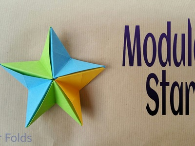 "How to make a Paper ""Modular Star"