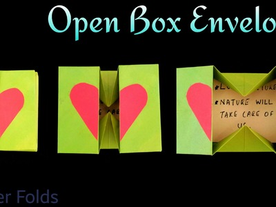 "How to make a Paper ""Open Box Envelope ✉ "" - Useful Origami Tutorial"