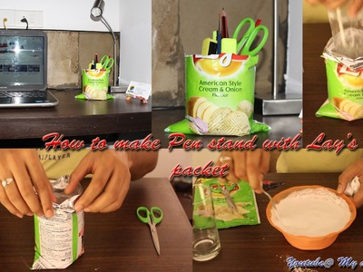 How to make a pen stand with Lay's Packet  | My art Section | Craft with POP | Sam Dhiman
