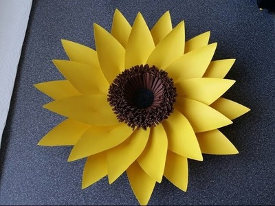 How To Make Adele Giant Paper Flower (sunflower)