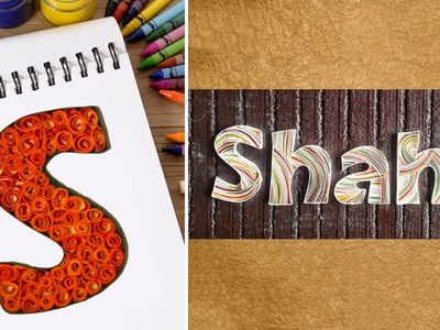 Custom notebook paper quilling