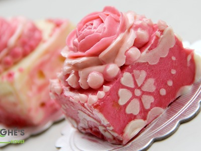 How to make Buttercream Flowers cakes - Pink rose cakes