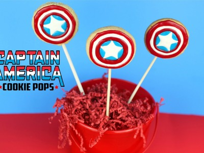 How to Make Captain America Cookie Pops