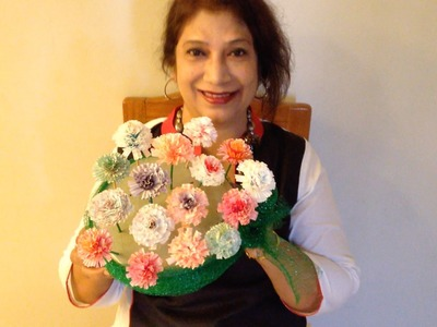 How to make Cup-Cake Liner flowers   Best From Waste