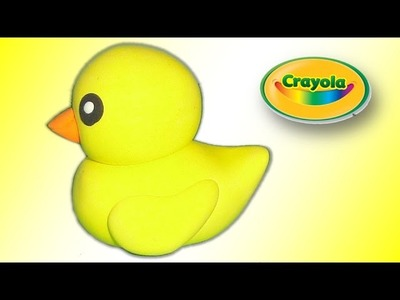 How to make cute duckling from Crayola Model Magic