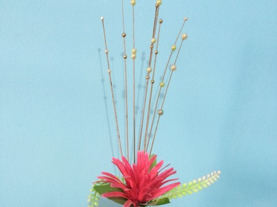 How to make decorative pearls sticks for flower vase | How to decorate rope vases.
