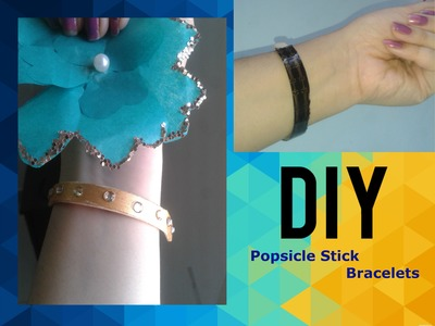 How to make Easy Popsicle (Ice cream) Stick Bracelets.