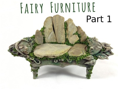 How to Make Fairy Furniture Out of Clay & Rocks: Part 1, DIY Fairy Garden Bench