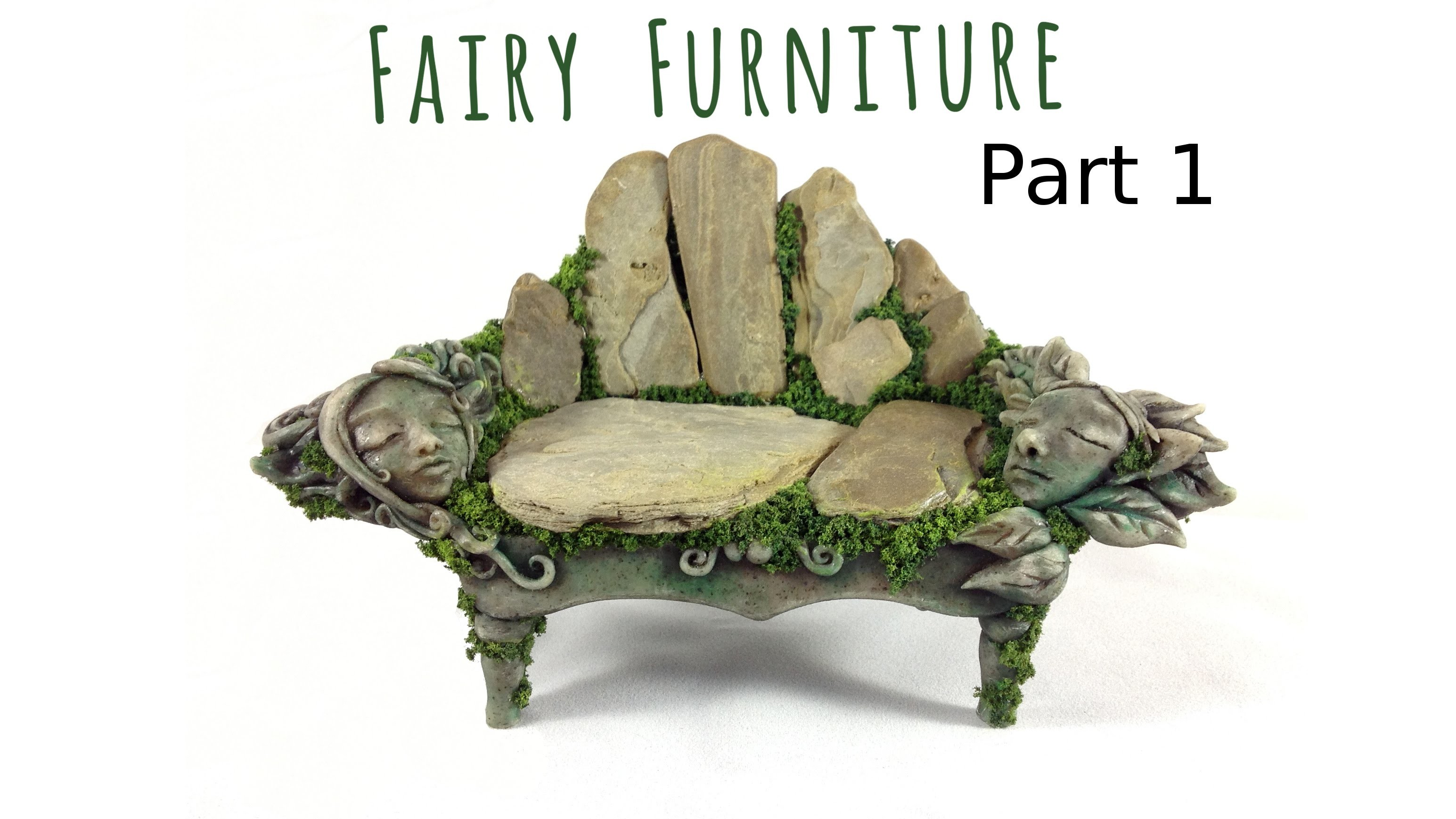 How to make fairy furniture out of clay rocks part 1 How to make a fairy door out of clay