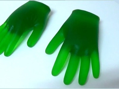 How to make jelly gummy hulk hands jello soda shape easy step by step guide DIY