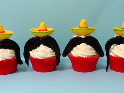 How to make mexican mustache cupcakes