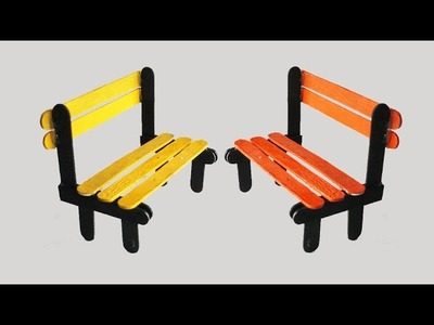 How To Make Pop Stick Bench || Tcraft