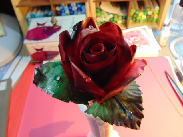 How to make Realistic Paper Roses  NEW