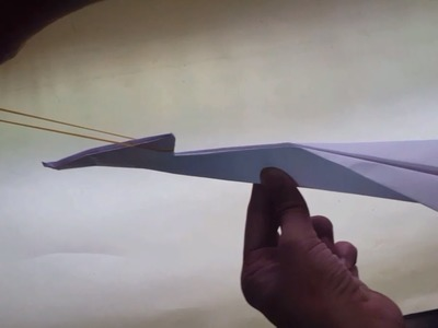 How to make rubberband powered paper jet aeroplane
