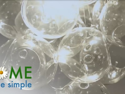 How To Make This Bubble Chandelier with Glass Orbs | Home Made Simple | OWN