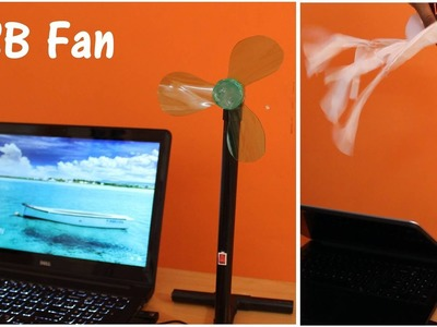 How to make USB Fan using Plastic Bottle - Simple