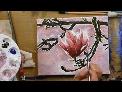 How to Paint Magnolias at Dawn - LIVE STREAM PAINT ALONG