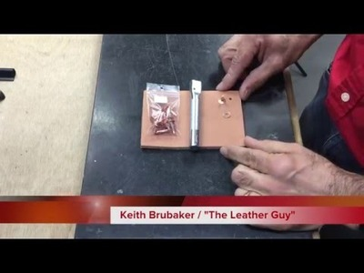 How to Set Copper. Brass Rivets and Burrs in Leather