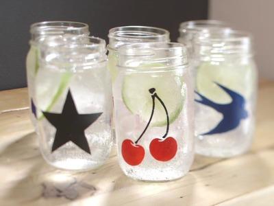 How to Stencil Mason Jars